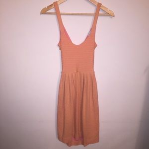 Postmark Anthropologie Peach Patterned Dress XS